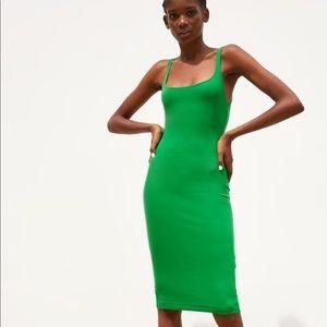 NWT's Zara Green Slip Dress Size Small